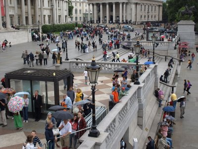 Chris Billington, Cornwall's modern artist ~ Fourth Plinth Umbrellas, Trafalgar Square