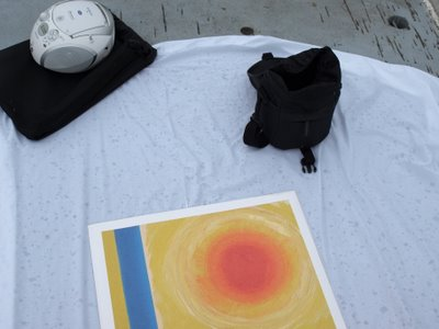 Chris Billington, Cornwall's modern artist ~ St.Ives Sun, The Print ~ Trafalgar Square, London